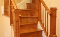 Custom New Stairs Balusters Posts Staining