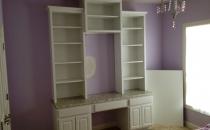Custom White Bookcase
