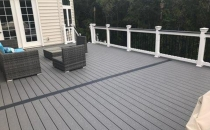 New Composite Deck with Deck furniture