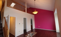 Painting Accent Wall Metallic Pink